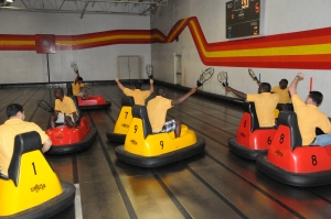 2013 Dallas GPA delegates bonding together through a game of whirleyball.