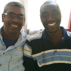 Pastor I (Right) and Rajiv Richard at GPA Rwanda