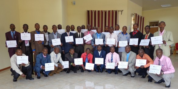 GPA Burundi delegates with their certificates.