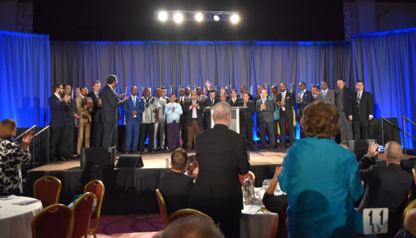 GPA graduation standing ovation